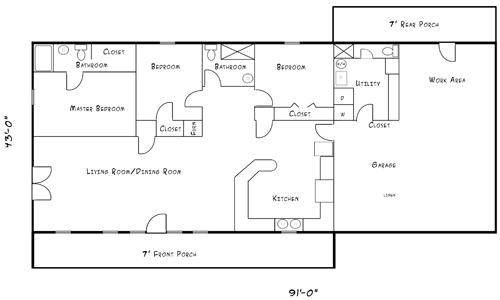Floor plans middle america steel steel buildings oklahoma for Floor plans oklahoma